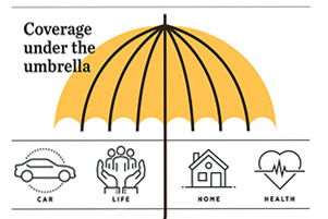 Umbrella policies provide canopy of insurance protection