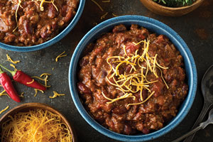 Take the edge off chilly weather with a pot of chili