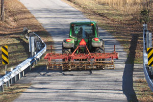 Spring means farm equipment on roads