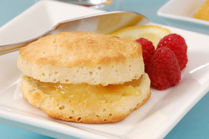Chef Maxwell's recipe for Fresh Berries with Biscuits and Lemon Curd