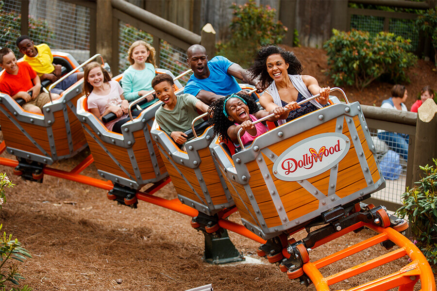 Rollercoaster at Dollywood